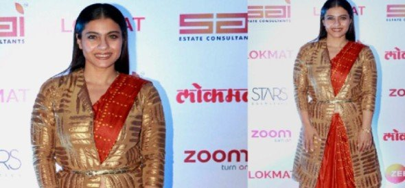 Try this winter saree style of Kajol and look different in parties
