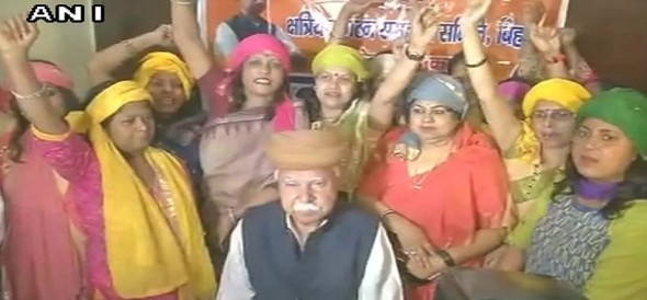 Women of Rajput community protested against film Padmavati in Patna bihar