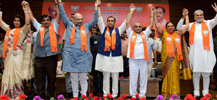 gujarat elecitons BJP release its first seventy candidate list CM rupani will fight from rajkot west
