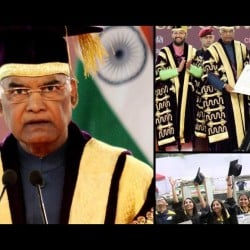 in du's 94th convocation president ramnath kovind stated to students for not to stop learning
