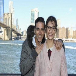 akshay and sonam arrive at new york for padman shooting