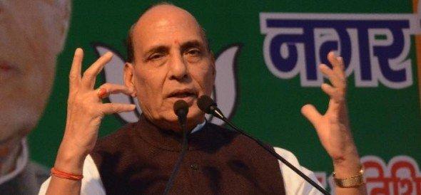 rajnath singh in lucknow nagar nikay election.