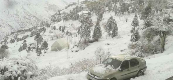 Himachal 3 feet snowfall in rohtang road closed for six months