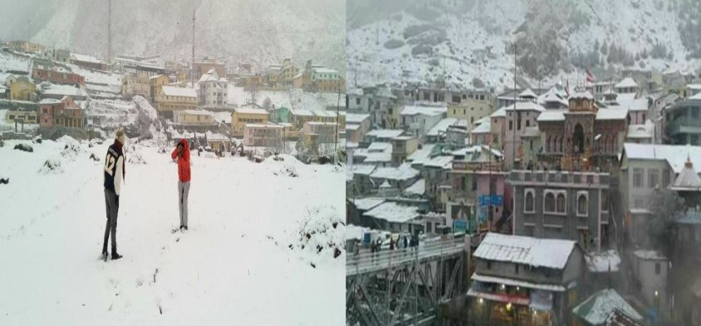Snowfall in Badrinath and Yamunotri 2017