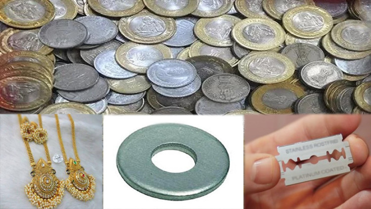 indian coins smuggled