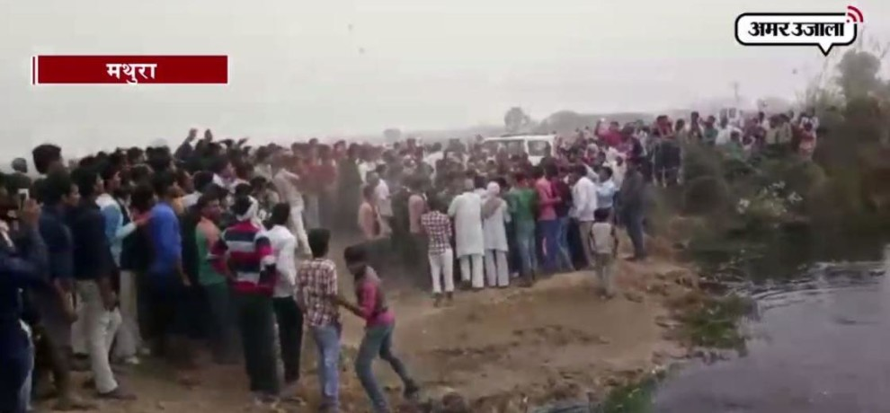 Women along with her son died after dived in canal in Mathura
