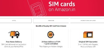 Amazon India selling SIM cards of Airtel and Vodafone