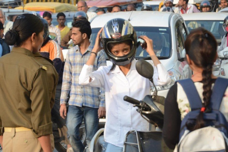 without Helmet, people can not take Petrol