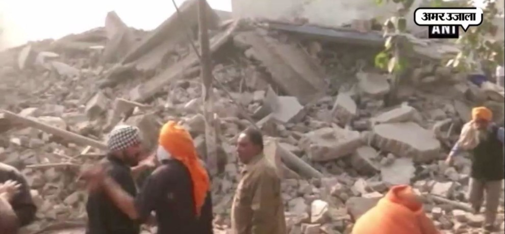 LUDHIANA 4 STORY BUILDING COLLAPSE AFTER FIRE BREAKOUT