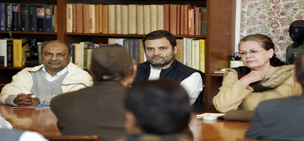 Congress Working Committee meeting at Janpath in New Delhi on Monday