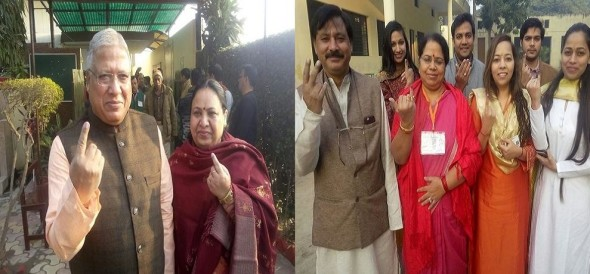 Nikay Chunav : Voting started for the first phase, BJP Mayor candidate cast vote