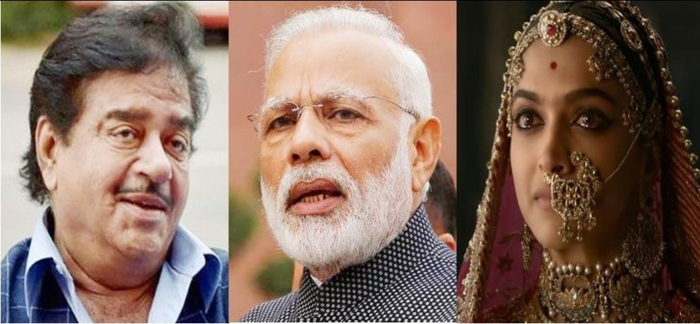 Shatrughan Sinha questions Modi and Amitabh Bachchan for silence on Padmavati