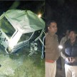 A memu train hits a vehicle in amethi.