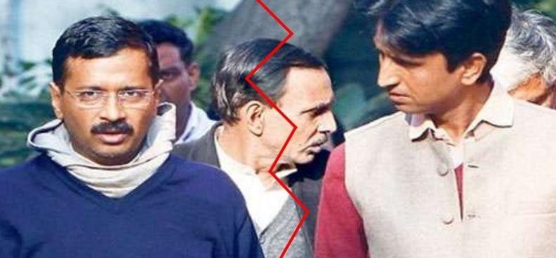 Image result for केजरीवाल पर कुमार विश्वास