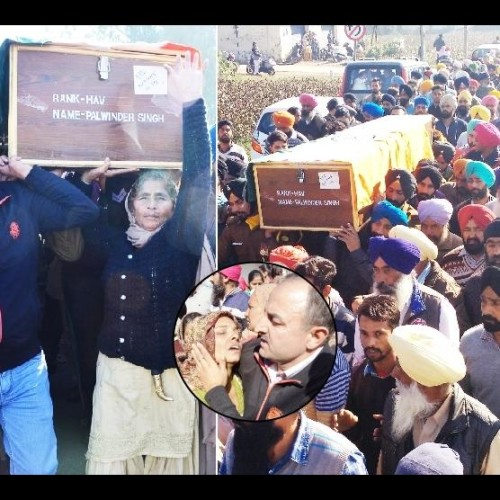 Soldier cremated in native village in Punjab