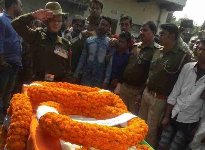 Army ,jawan death in road accident