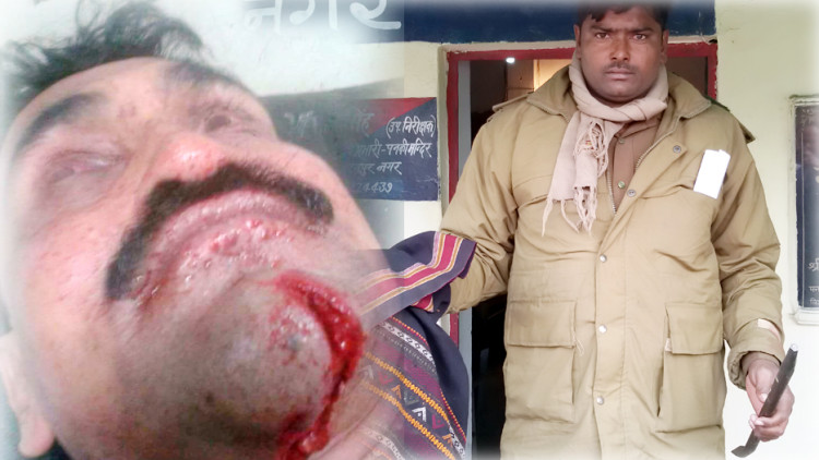 criminal attacked on police in kanpur