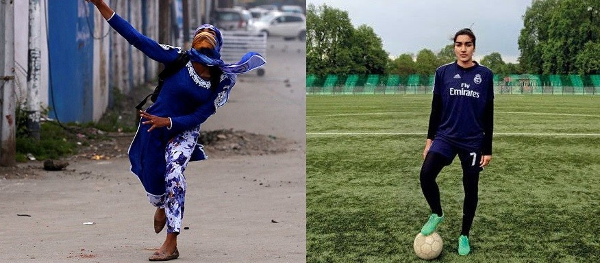 MEET ASHAA ASHIQ WHO USED TO DO STONE PELTING NOW THE CAPTAIN OF J&K WOMENS FOOTBALL TEAM