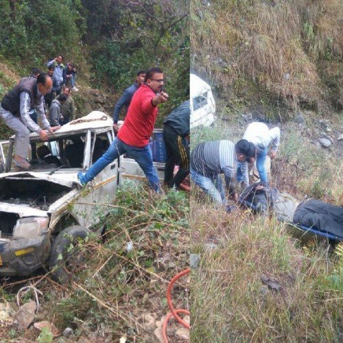 horrible photos of teachers death in road accident in almora