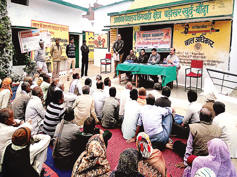 commissioner  teaches farmers in teach lessons