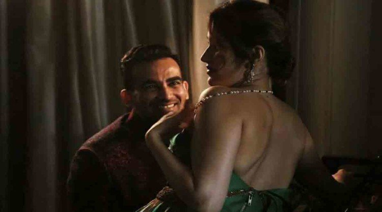 zaheer khan and sagarika ghatke bold honeymoon photos shared in social media