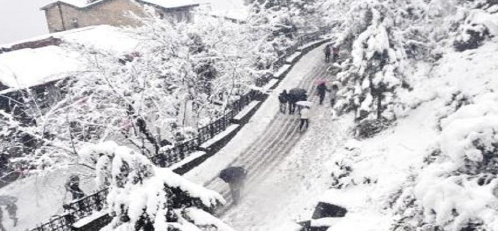 HEAVY SNOWFALL ANTICIPATED BY METEOROLOGICAL DEPARTMENT IN HIMACHAL PRADESH