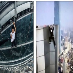 Harrowing footage captured of death when Chinese rooftopper doing stunt for selfie