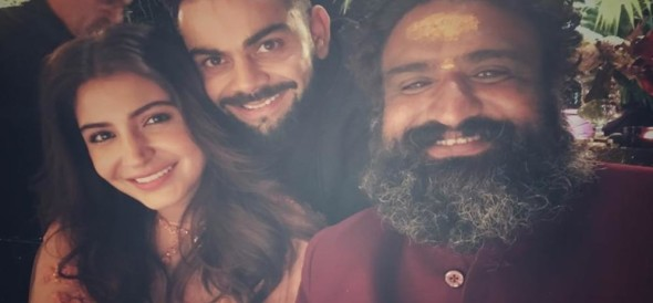 anushka sharma virat kohli priest gave blessings to them in marriage