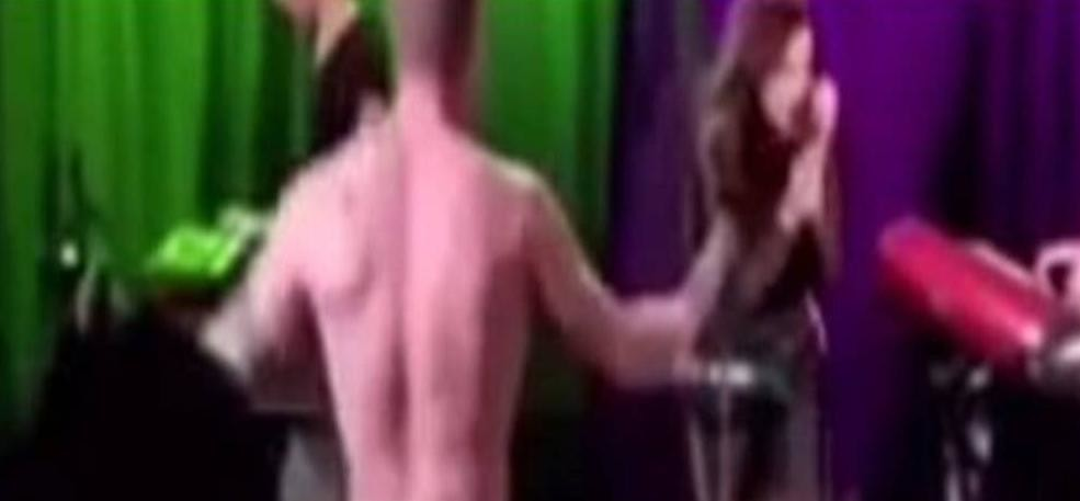 Naked person came in front of the pop stars performance