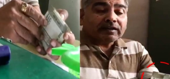 CORRUPTION IN ELECTRICITY DEPARTMENT IN AGRA, VIDEO GOES VIRAL