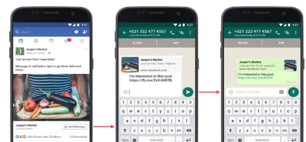 Facebook roll out Click to WhatsApp messaging buttons for ads