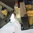 gold cylindrical Microwave oven seized at igi airport with market value of Rs 56,69,400