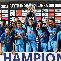 INDvSL: 'गब्बर' के शतक ने श्रीलंका को दी मात, टीम इंडिया ने जीती लगातार 8वीं सीरीज