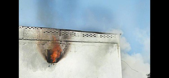 Cold storage fire, loss of millions