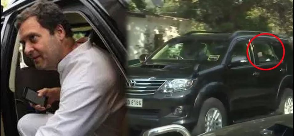 rahul gandhi leaves his delhi residence before election results of gujarat and himachal