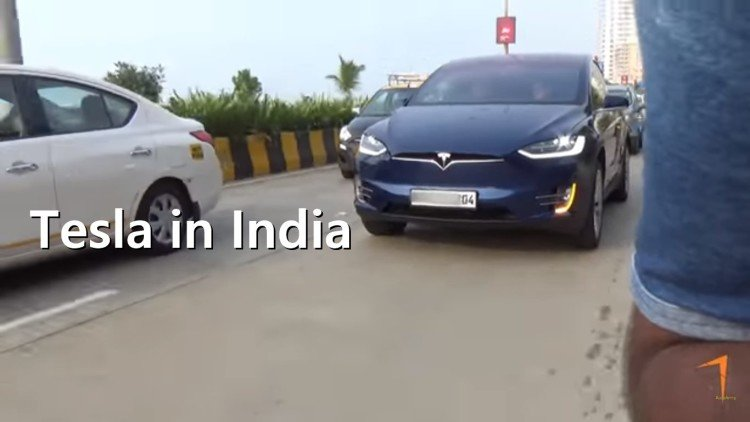 India first Tesla X electric SUV Car registered at Mumbai