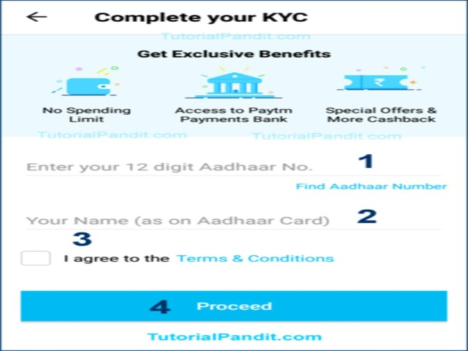 Easy Way To Link Paytm With Aadhaar For Kyc - दो मिनट