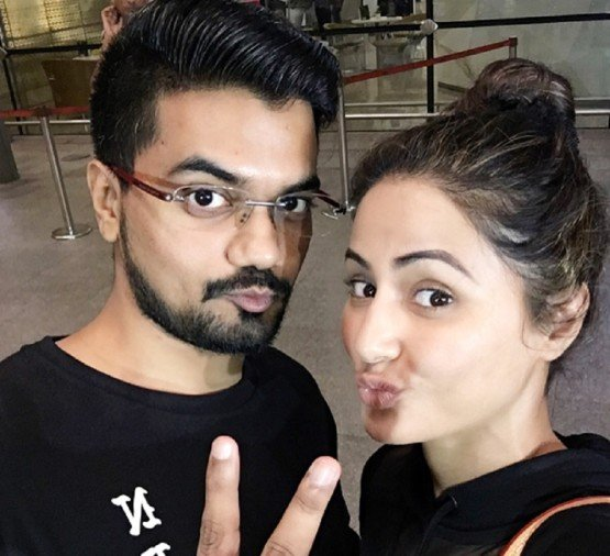 Bigg Boss 11 Hina khan boyfriend rocky jaiswal makes a vote appeal for her