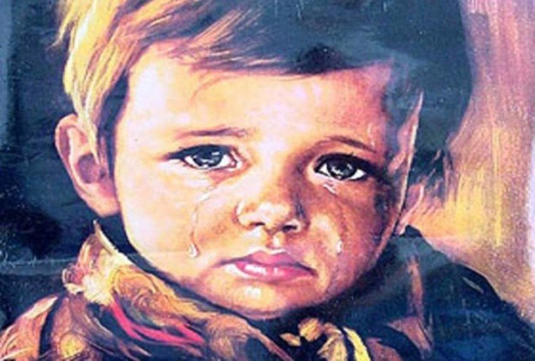 Scary story of The Curse of the Crying Boy Painting