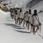 ITBP Himveer at 18000 Feet and minus 30 degree Celsius temperature