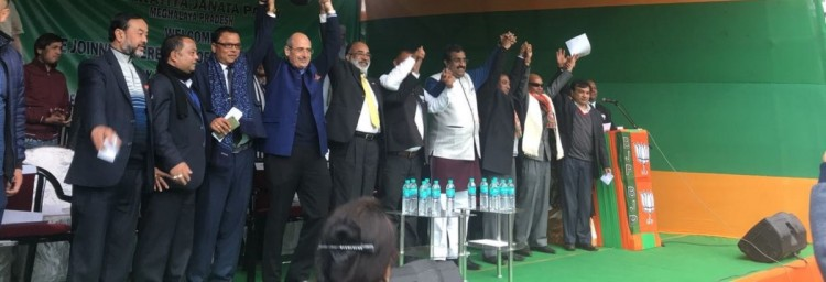 stress for congress after its revealed that its four sitting MLA to join BJP in meghalaya