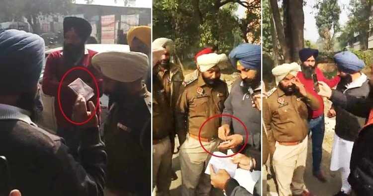 By LIVE on Facebook, MLA Bains caught two policemen taking bribe