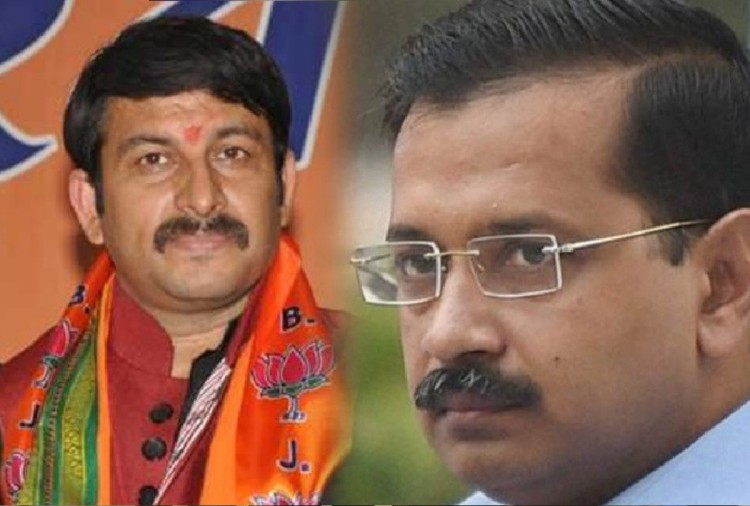 Image result for arvind kejriwal and manoj tiwari