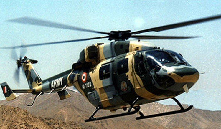three jawans injured on Army Day rehearsal by falling from the helicopter