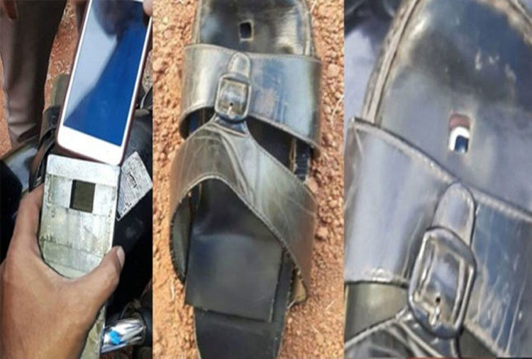 Man in kerala hide camera in slippers to take up under skirt pictures of Girls