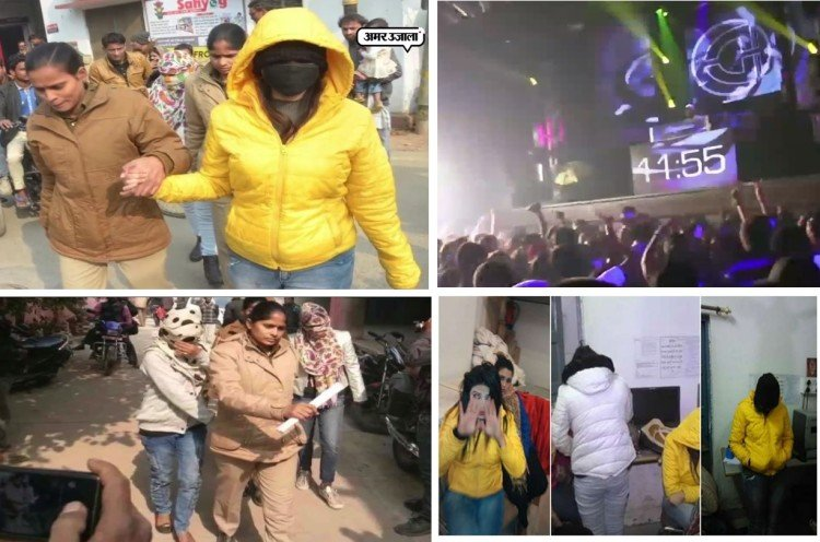 33 Boys and Girls arrested after raid in Varanasi Rave Party