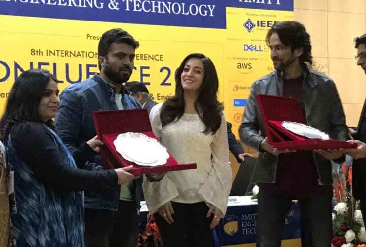 Vodka Diaries starcast at amity school of engineering and technology interact with students