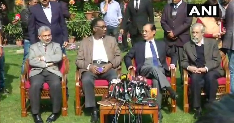 four supreme court judges who did a press conference for the first time in indian judicial history
