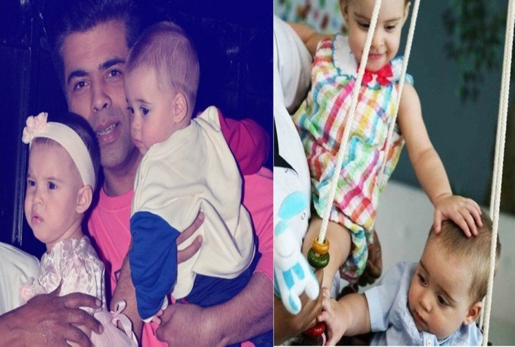 karan johar shares adorable pictures of yash and roohi