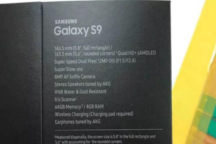 Samsung Glaxy S9 Specifications and Features Leaked via Retail Box